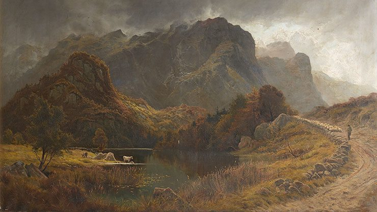 'Gates of Borrowdale' by Frederick Clive Newcome