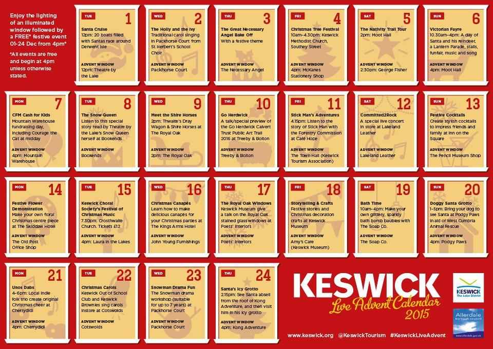 Advent Calendar Ideas Eyfs : Keswick live advent and creating christmas decorations