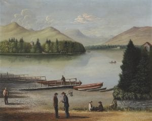 View across Derwentwater to Walla Crag by Joseph Brown