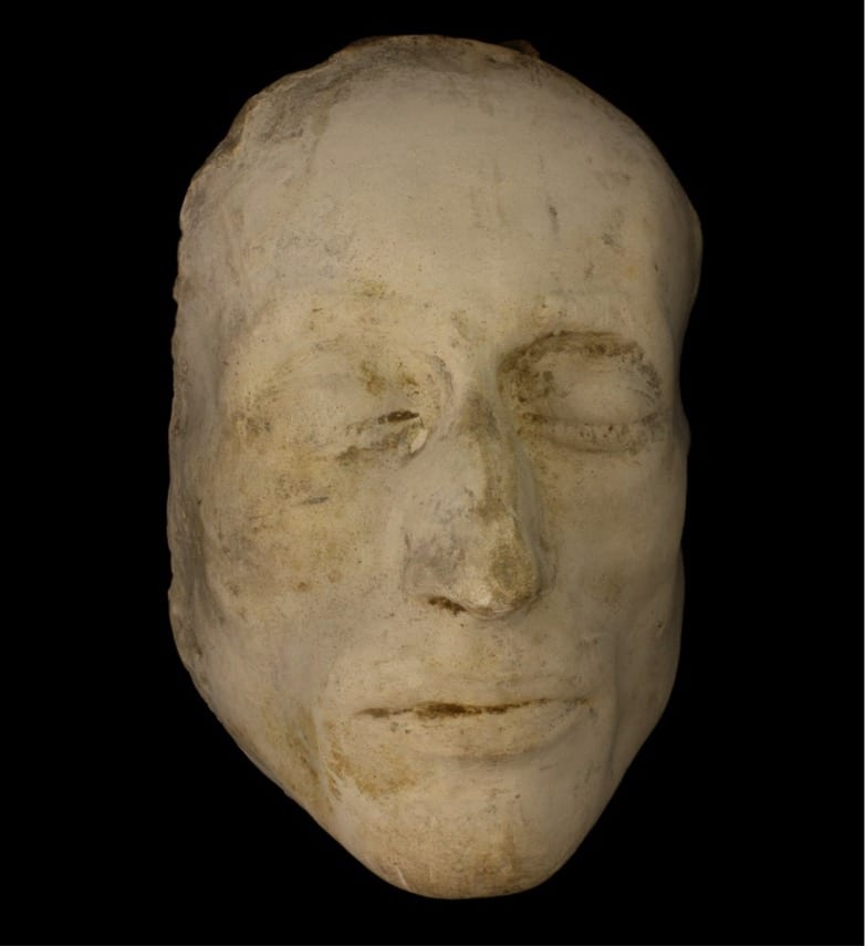 Robert Southey's death mask. Southey's death mask is a cast taken of the poet's face shortly after his death on 21 March 1843.  He was interred at Crosthwaite churchyard three days later.